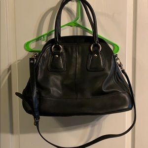 Huge Black Leather Women's Talbots Purse.